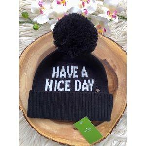 ♠️NWT Kate Spade Have A Nice Day Beanie
